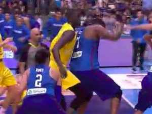 'DISGRACEFUL': Boomers game erupts into huge brawl
