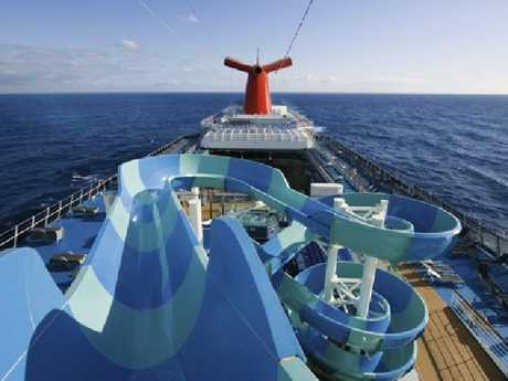 Waterslides on Carnival Splendor.