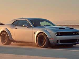 American Dodge Challenger SRT mixes it with Ferrari