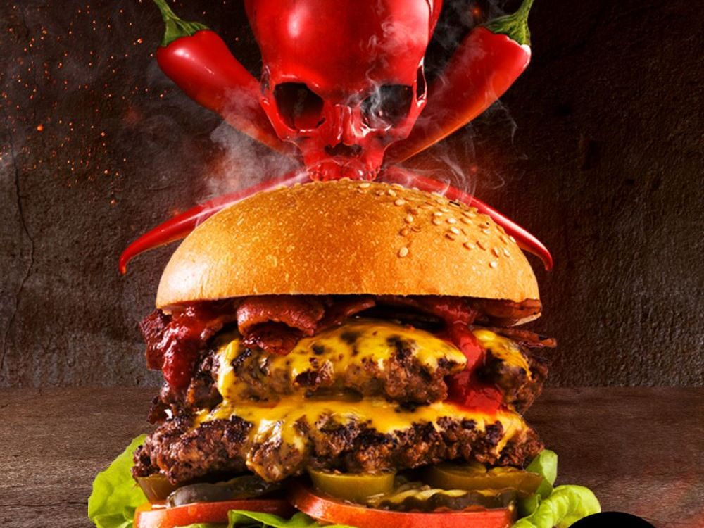 Officially Australia's hottest burger, the Double Decker Death Wish.