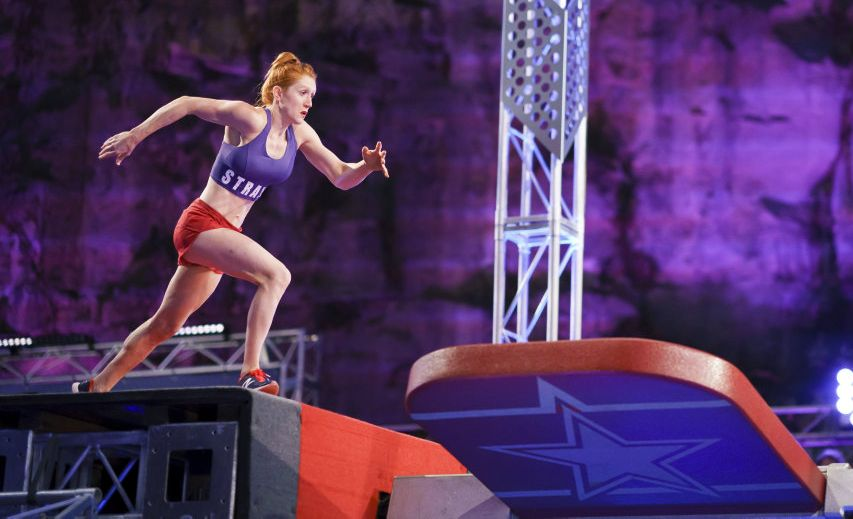 Olivia Vivian in a scene from season two of Australian Ninja Warrior.