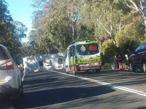 Highway re-opens after caravan rollover