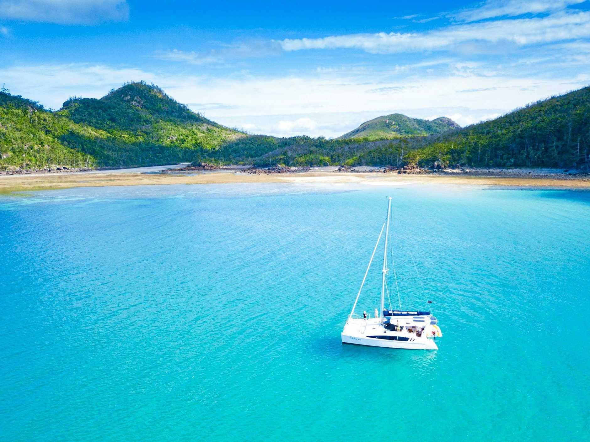 The truly best way to voyage around the Whitsunday Islands is by private boat.