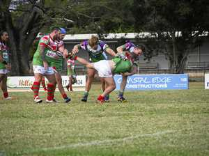 Brahmans outdo the Crocs in try fest at Les Stagg Oval