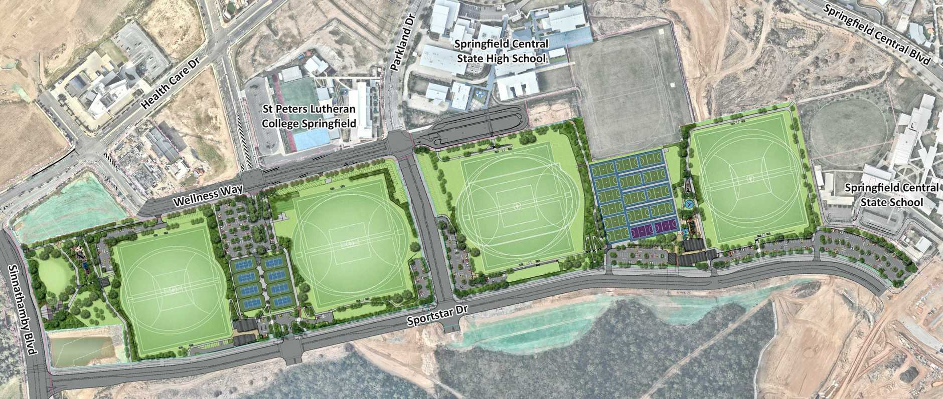 A concept plan of the Greater Springfield Sports Complex due to open next winter.