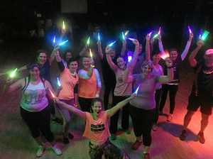 Swap sweat bands for glow sticks at new fitness class