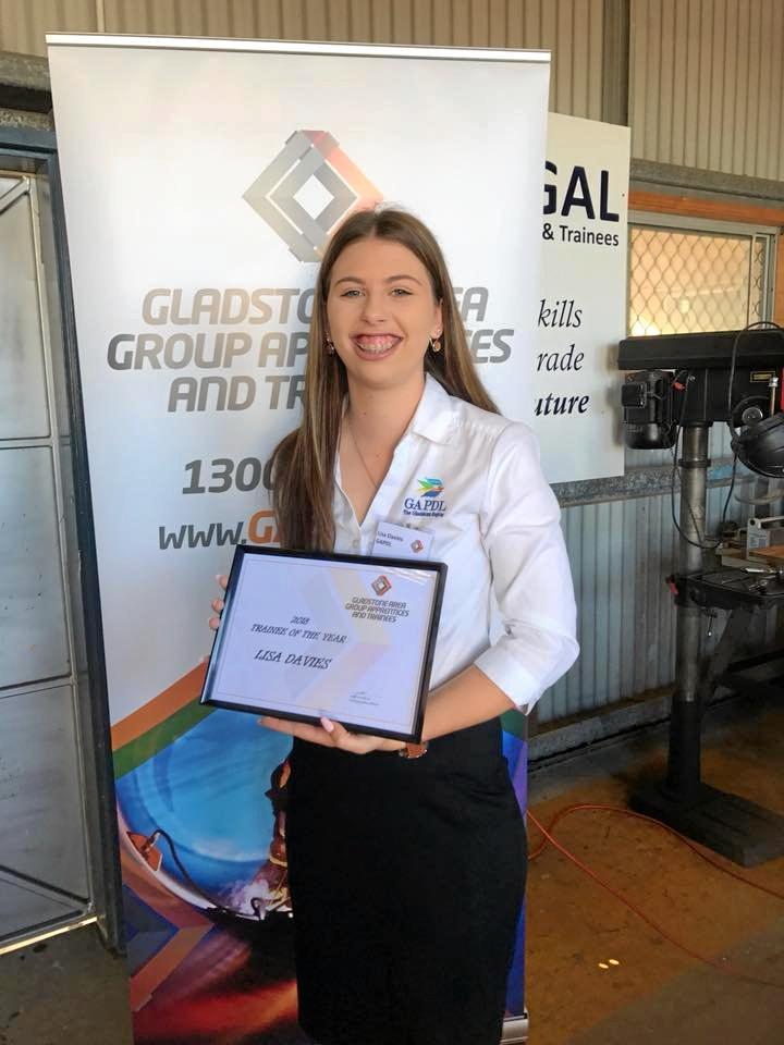 GLADSTONE AMBASSADOR: Lisa Davies has been awarded trainee of the year.