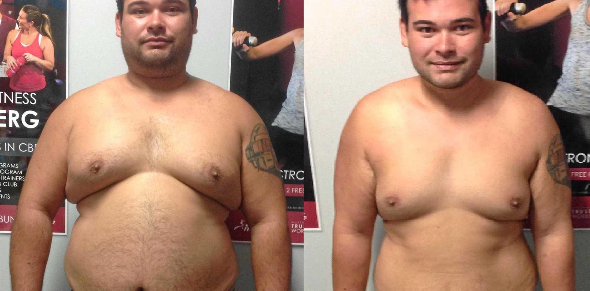Christen Payne lost 25kg in eight weeks.