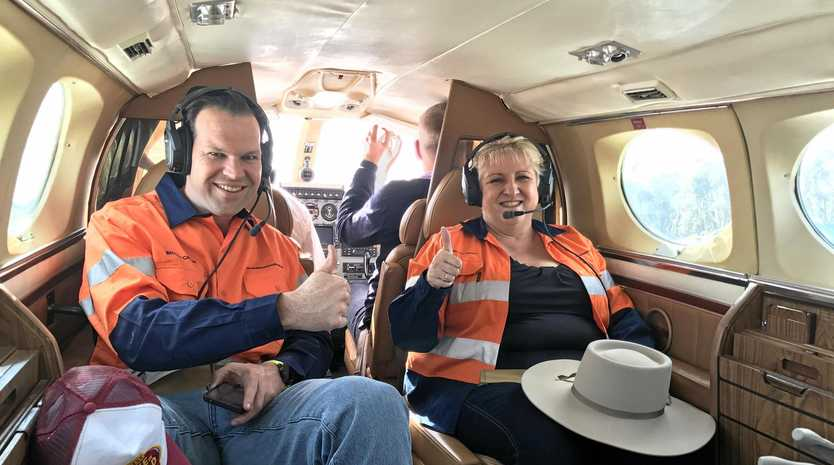 COAL TOUR: The future looks bright for CQ with Minister for Resources and Northern Australia Senator Matthew Canavan and Capricornia MP Michelle Landry taking a flying tour of the booming coal rich Galilee Basin.