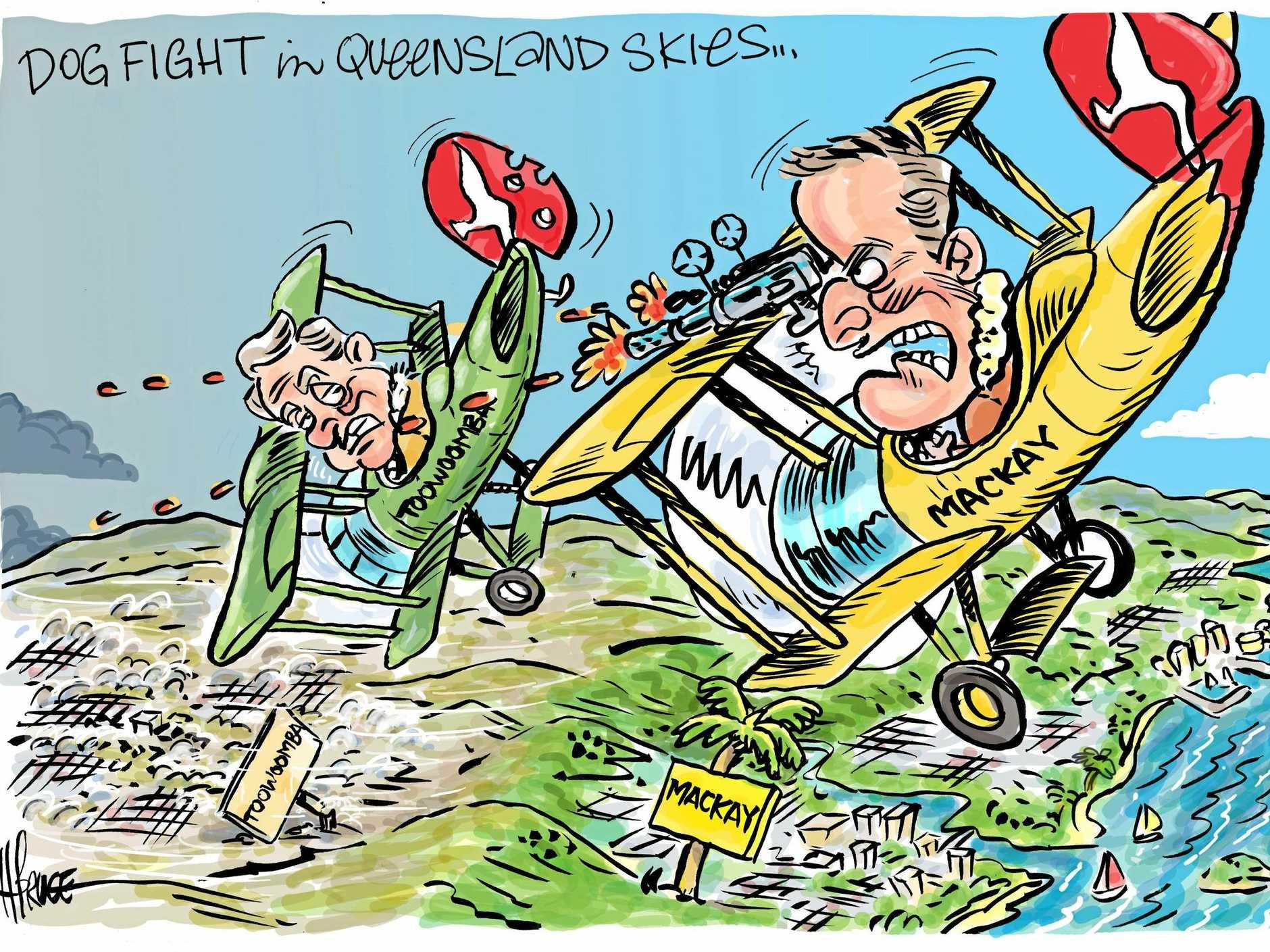 Toowoomba vs Mackay in Qantas bid