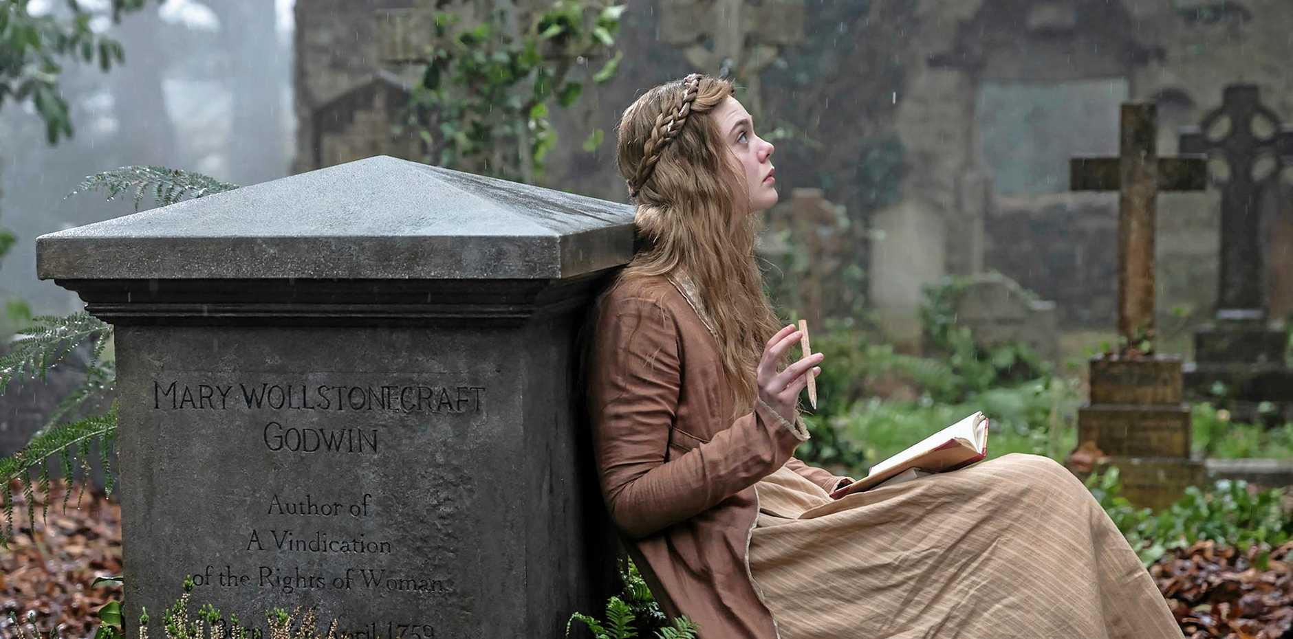 Elle Fanning in a scene from the movie Mary Shelley. Supplied by Transmission Films.