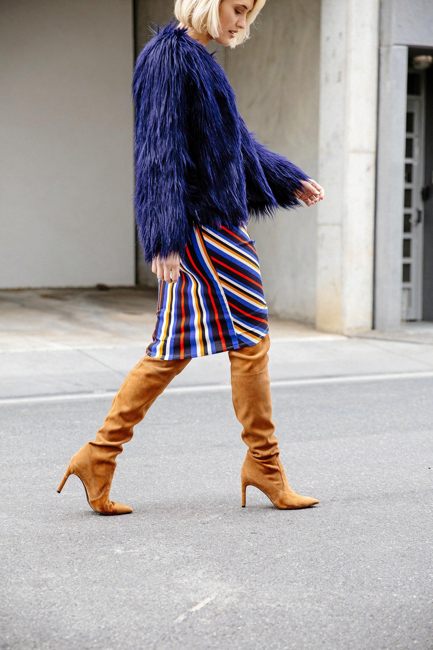 Knee-high boots.