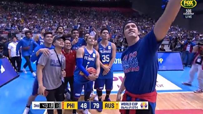 Basket-brawl  Big problem with tasteless selfie  ae2e8e2bd