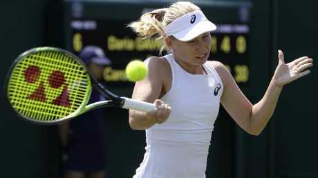 Daria Gavrilova cleaned up Caroline Dolehide. (AP Photo/Kirsty Wigglesworth)
