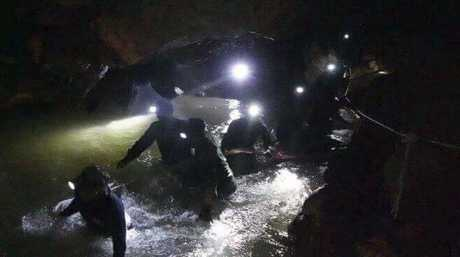 The intense search lasted ten days. Picture: Tham Luang Rescue Operation Center via AP