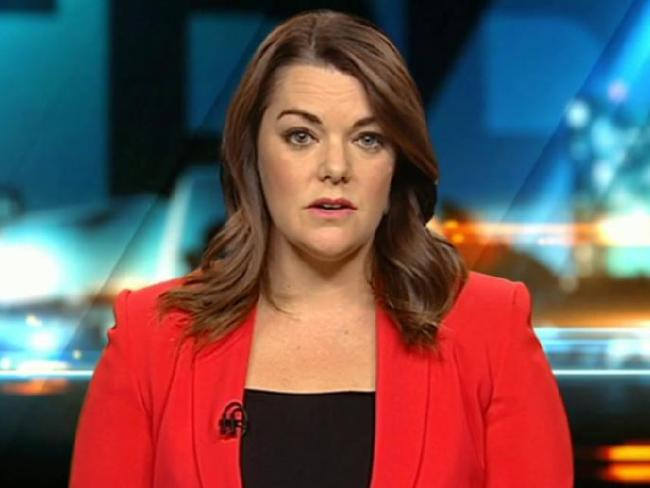 Senator Sarah Hanson-Young is taking a stand against Senator Leyonhjelm's sexist slur. Picture: Channel 10