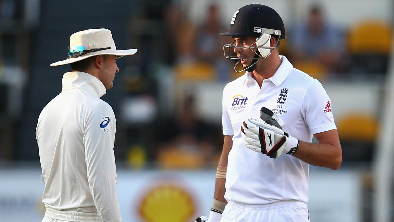 "Michael Clarke was caught telling James Anderson to ""get ready for a broken f---ing arm"" in the 2013-14 Ashes."