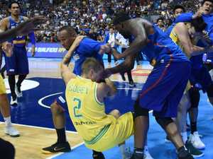 Shocked world reacts to 'scary' basket-brawl