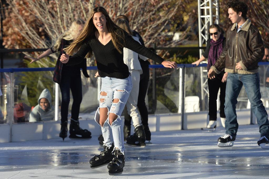 Ava Black ice skating at Winter Wonderland in the Civic Square, Friday, June 22, 2018.