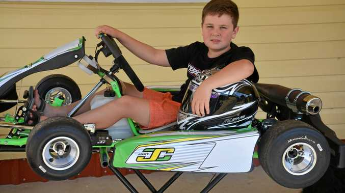 GETTING PREPARED: Warwick driver Jayden O'Dea is gearing up for this weekend's Junior Top Guns at Sandy Creek Raceway.