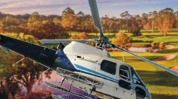 GOOD CAUSE: The annual Heli-Drop at Byron Golf Course.