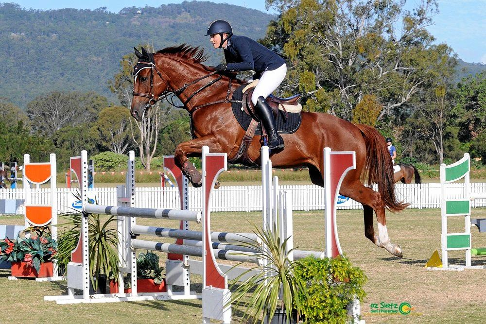 Jasmine Ritter competes at the Aquis Champions Tour in the Gold Coast hinterland in April.