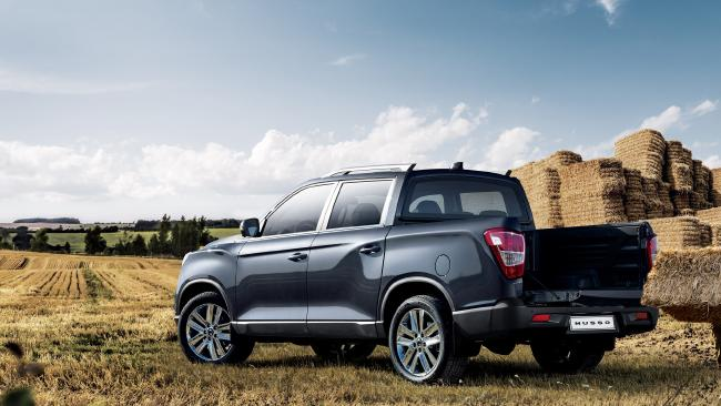 The Musso dual-cab ute will spearhead the Korean brand's return and will be joined by the Tivoli and Rexton SUVs.