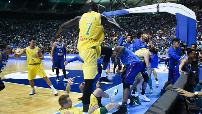 The brawl in Manilla has shocked the basketball world. Picture: George Calvelo/Getty Images