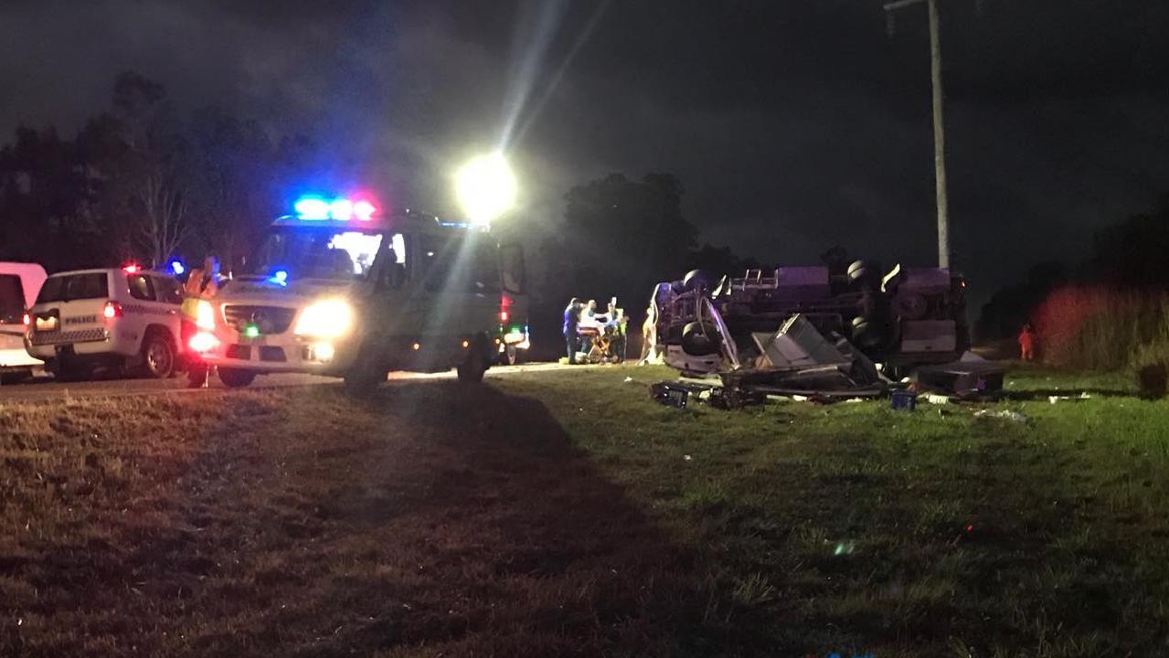 The scene of a serious crash near the Paluma turn-off.
