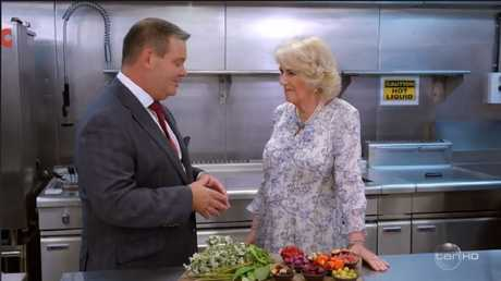 Camilla told Gary garlic was an absolute no-no. Picture: Channel 10