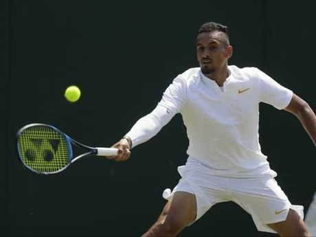 Nick Kyrgios was in devastating form at times. Pic: Getty