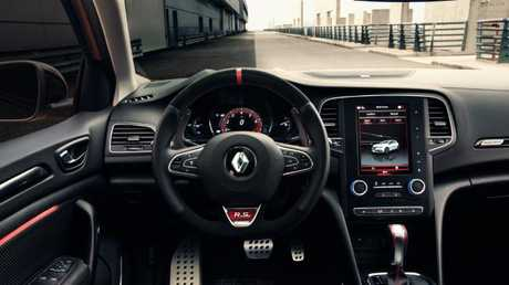 The new Renault Megane RS is fitted with a tablet-style touchscreen