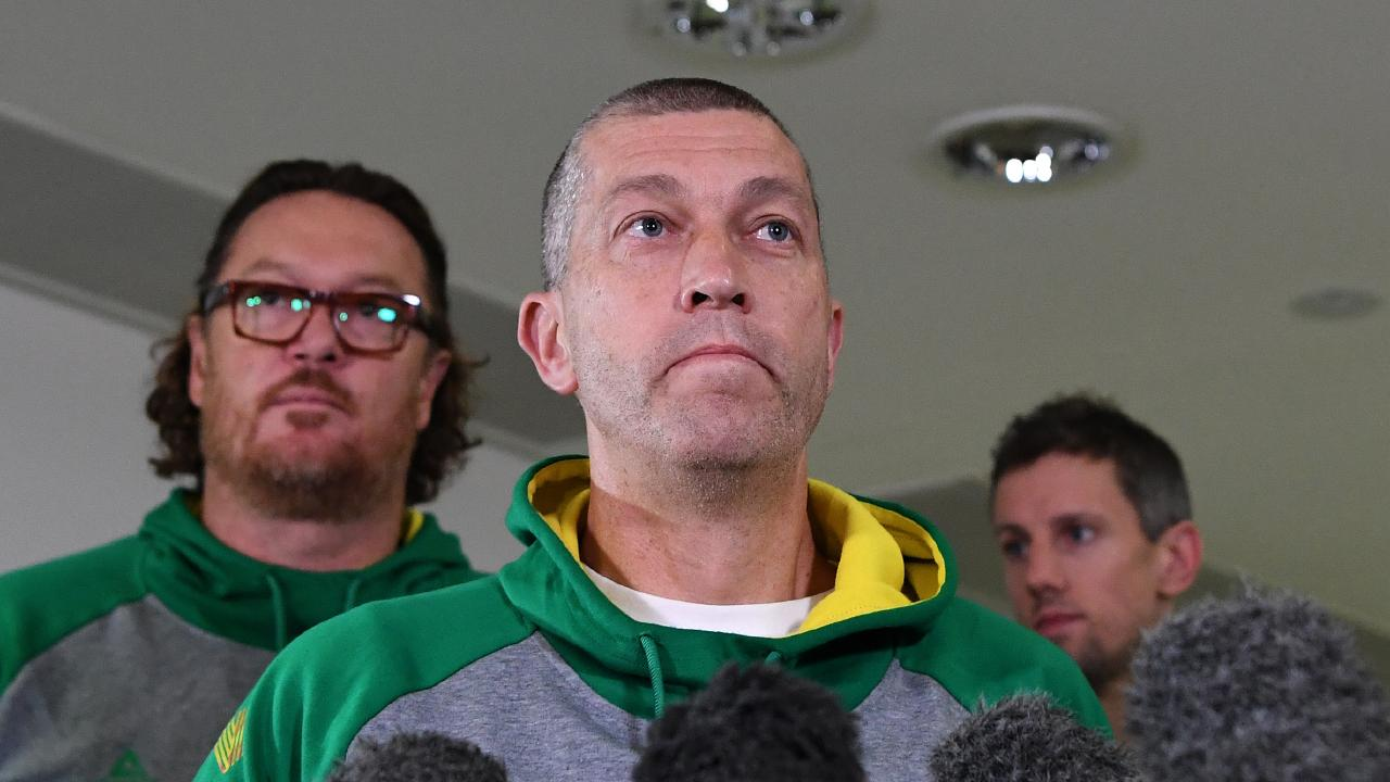 Boomers coach Andrej Lemanis addressed the media this morning, saying everyone needed to learn something from the incident. Picture: AAP