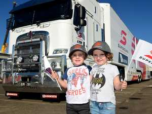 V8 Supercars trucks roll into town