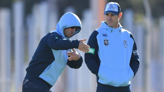 But can he explain those night notes to Brad Fittler? (AAP Image/David Moir)