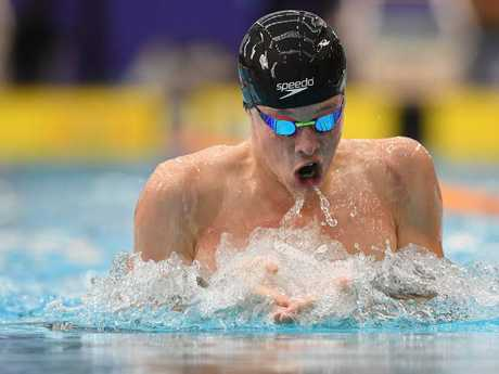 Zac Stubblety-Cook qualified second fastest for the final of the men's 200 metre breaststroke. Picture: AAP