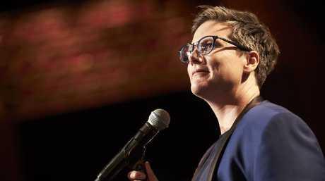Australian comedian Hannah Gadsby in a scene from her Netflix comedy special Nanette. Supplied by Netflix.
