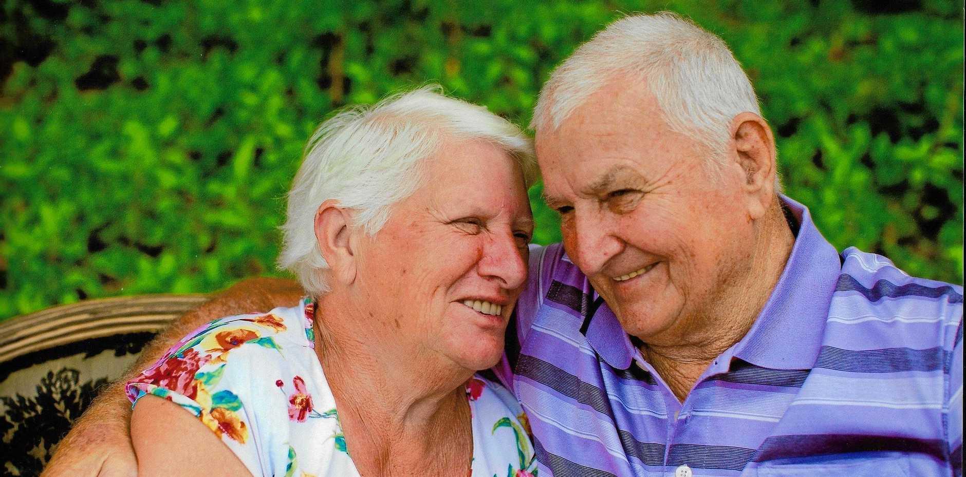 Nambour life members Ann and Bert Deschamps. The couple rarely spent time apart.