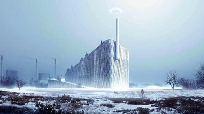 WORLD LEADER: The Amager Bakke is a waste-to-energy plant in Copenhagen, Denmark, that has multiple purposes. It has an artificial ski slope and recreational hiking area built on top of the waste management centre. It opened earlier this year.