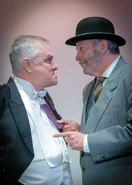HOLIDAY FUN: James Kable and Tony Glazebrook star in An Inspector Calls at The Lind Theatre Nambour.