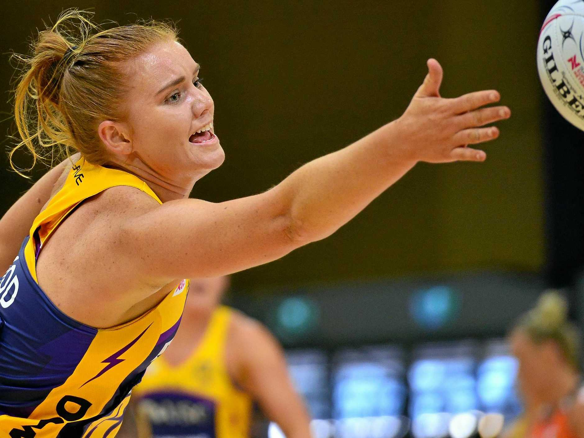 Stephanie Wood in action at University of the Sunshine Coast against the Giants.