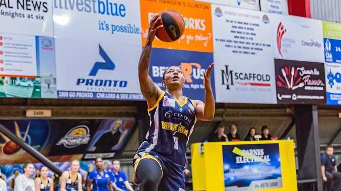 Tanaya Atkinson goes to the hoop.