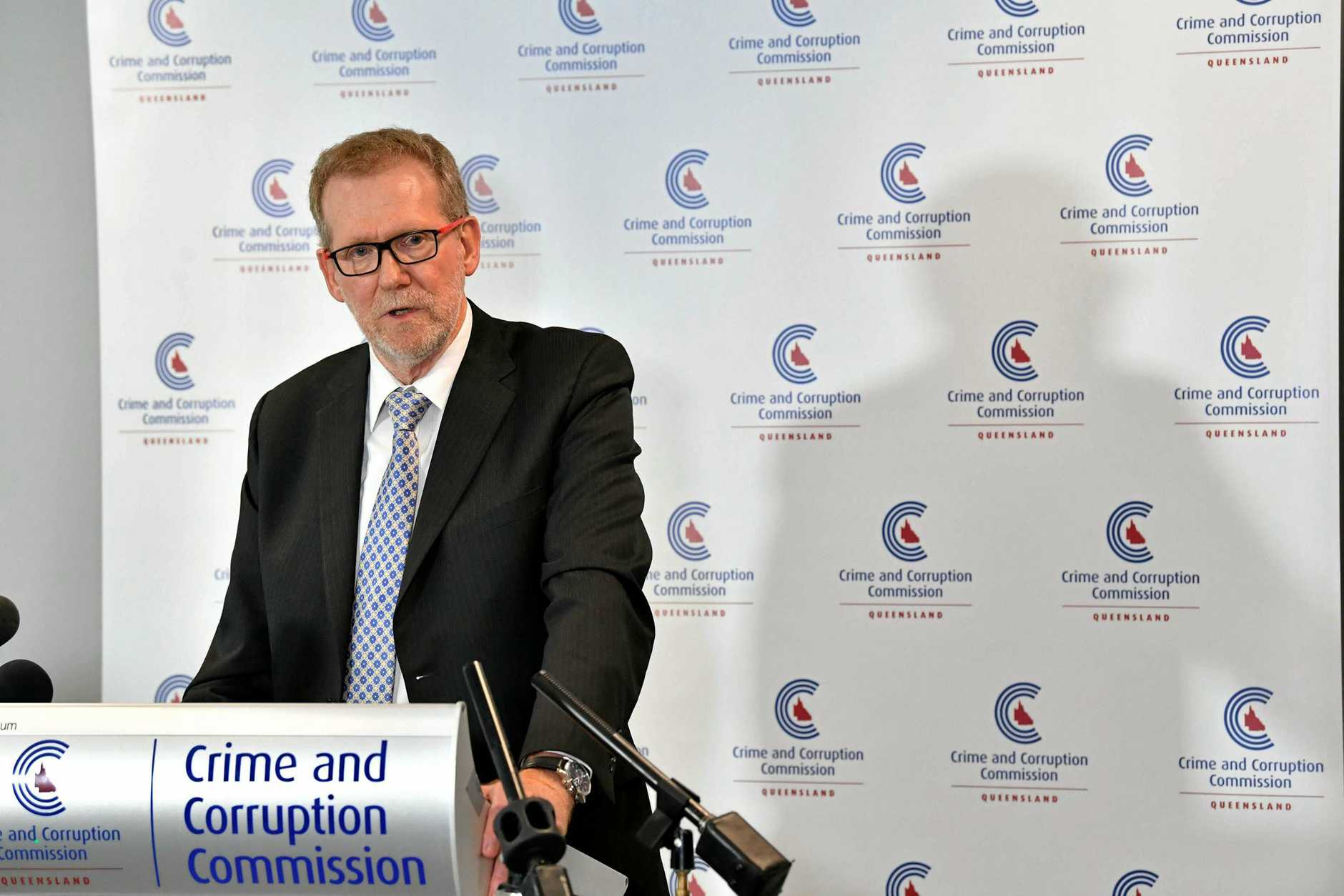 Crime and Corruption Commission chair Alan MacSporran speaks about Operation Belcarra.