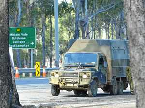 Army truck rear-ends car on Bruce Hwy near Benaraby