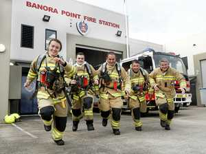 Firies climb for charity