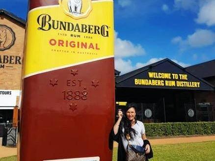 FAMOUS FACE: Schapelle Corby at the Bundaberg Rum factory.