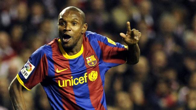 Barcelona's Eric Abidal.