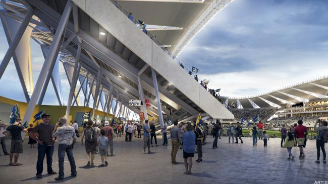 The food and beverage section of the new Townsville stadium. Picture: Department of State Development, Manufacturing, Infrastructure and Planning