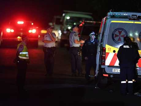 A woman in her 30s arrievd home to find police at her home and her two teenage children shot dead. Picture: Dan Himbrechts.