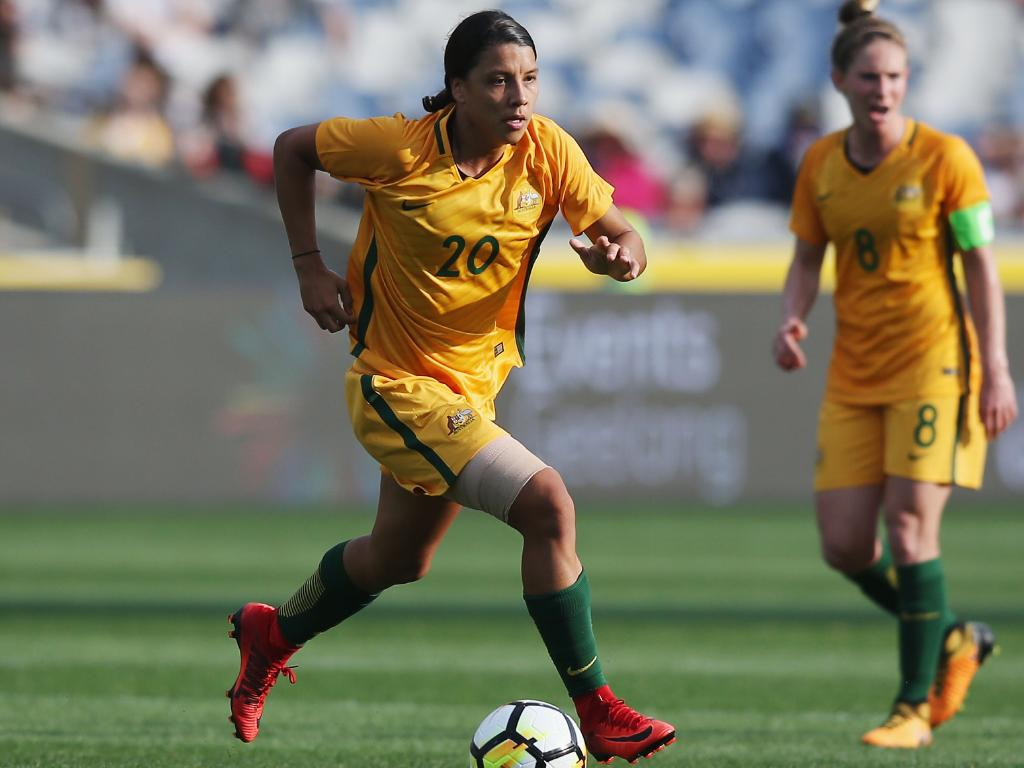 Sam Kerr's form over the past year has shot her to super stardom. Picture: Getty Images
